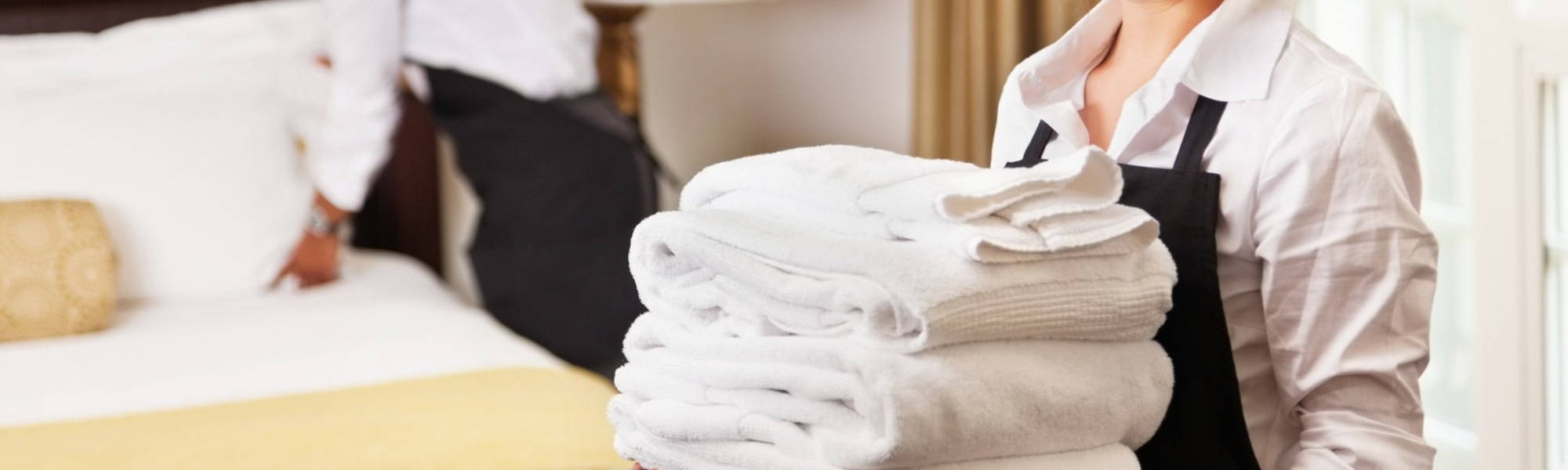 Clean hotel towels